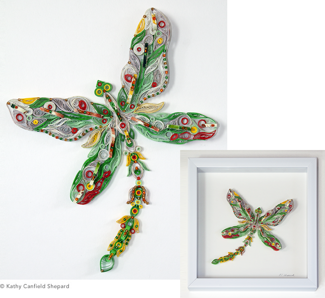 Quilled Treasures - Dragonfly (No. 2)