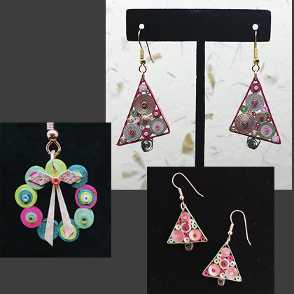 Quilled Paper Treasures - Holiday Earrings