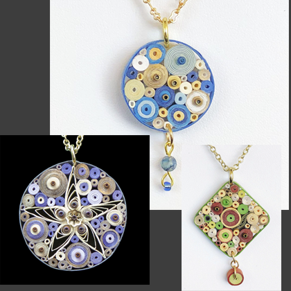 Quilled Paper Treasures - Necklaces