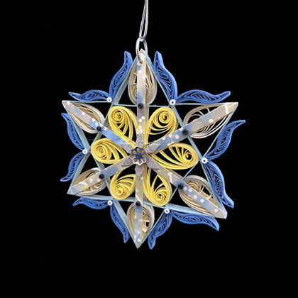 Quilled Treasures - Star Ornament No. 1a