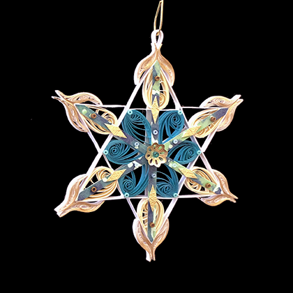 Quilled Treasures - Star Ornament No. 4