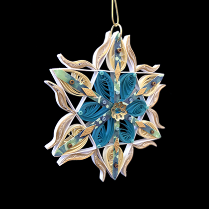 Quilled Treasures - Star Ornament No. 4a