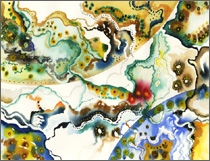 Abstract Watercolor: Kaleidoscope Series